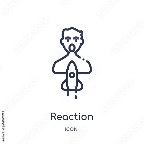 фотографія  reaction icon from startup outline collection