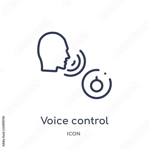 Fotomural voice control icon from smart house outline collection