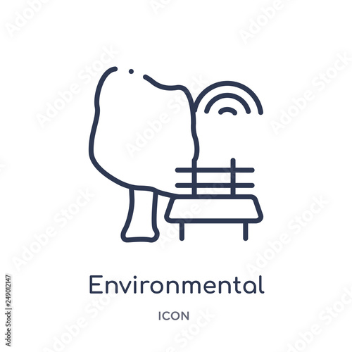 Foto  environmental icon from smart home outline collection