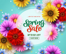 Spring Sale Vector Banner Temp...
