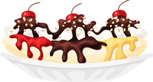Banana Split Ice Cream Sundae ...