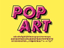 Modern Retro Old Pop Art Font ...