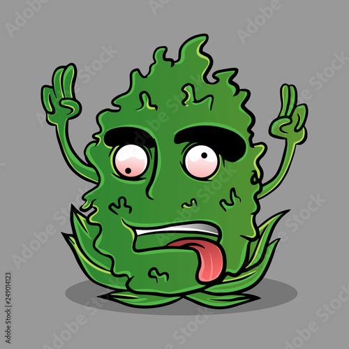green kush marijuana cartoon