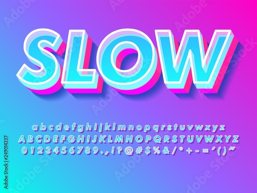Fotografia  simple bright modern and futuristic text effect for headline design with cool tr