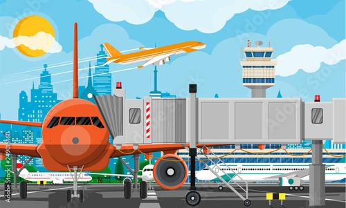 Cuadros en Lienzo Plane before takeoff