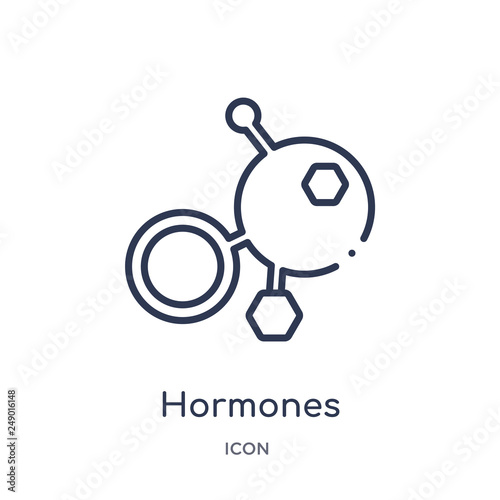 hormones icon from sauna outline collection Canvas Print