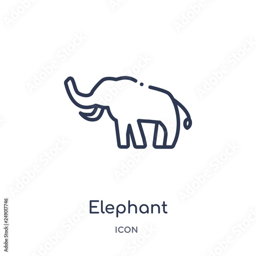 elephant icon from religion outline collection Wallpaper Mural