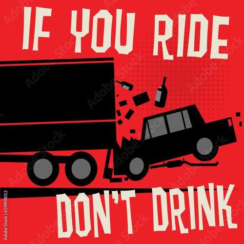 Valokuvatapetti Stop Drunk Driving Accidents poster