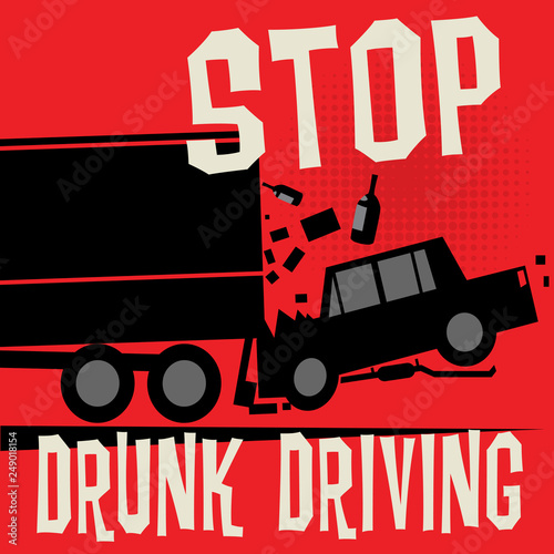 Stop Drunk Driving Accidents poster Canvas-taulu