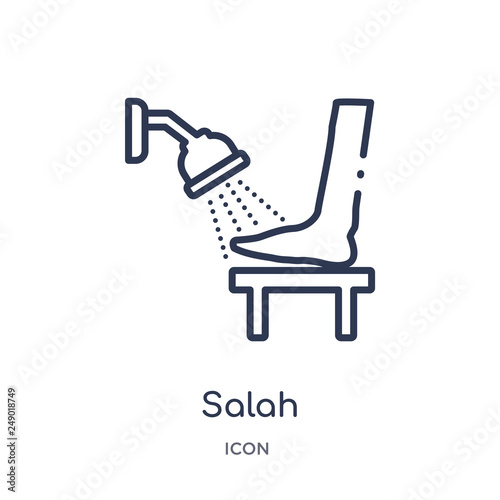 Photo  salah icon from religion outline collection