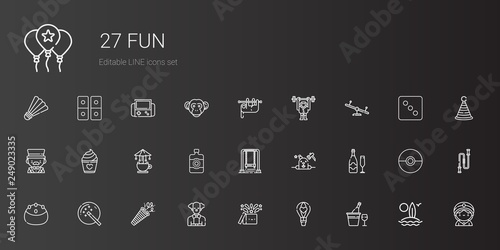 Photo  fun icons set