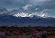 Sunlit Mormon Peak In The Morm...