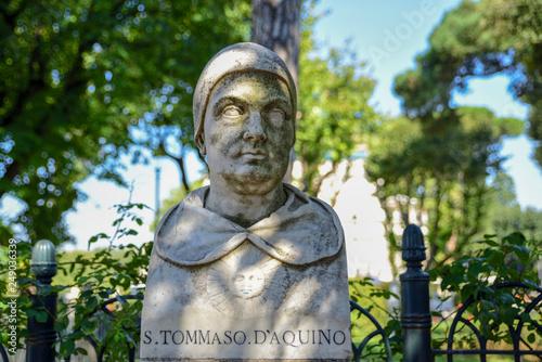 Obraz na plátně Saint Thomas Aquinas ( san Tommaso D'Aquino), philosopher friar (XIII century)