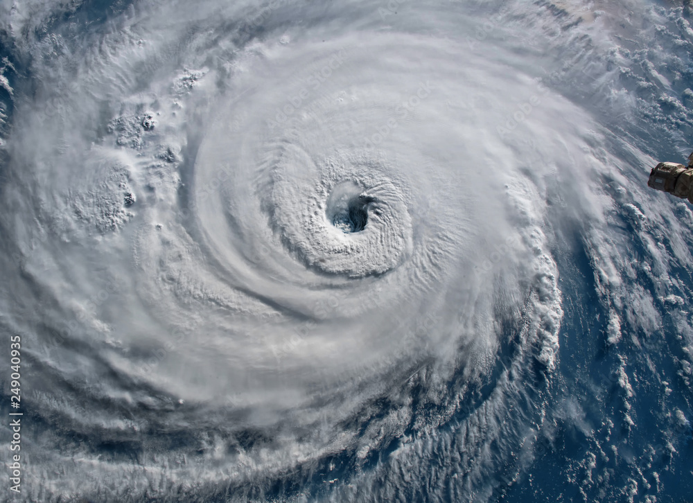 Fototapeta Satellite view. Hurricane Florence over the Atlantics close to the US coast . Elements of this image furnished by NASA.