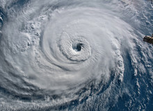 Satellite View. Hurricane Flor...