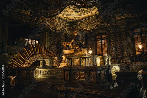 Fotografía HUE, VIETNAM - February 11, 2019: Tomb of Khai Dinh, It was built for the Nguyen