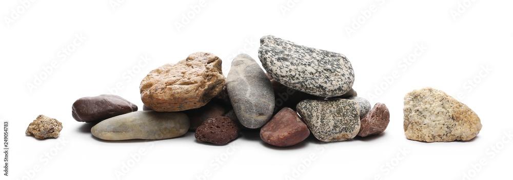 Fototapeta Decorative rocks isolated on white background