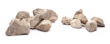 Rock Wall Isolated On White Background