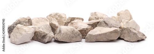 Fotomural  Rock wall isolated on white background