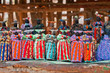 canvas print picture - Herero dolls souvenir for sale on a stall in Windhoek Namibia south west Africa.