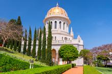 The Bahai Temple And The Bahai Gardens In Haifa, Israel.