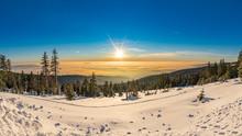 Nebelmeer über Dem Bayrischen Wald Im Winter, Panorama