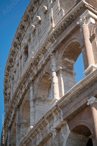 Fényképezés Détail du Colysée à Rome
