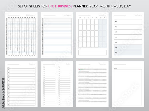 Obraz Project life and business planner with open date - fototapety do salonu