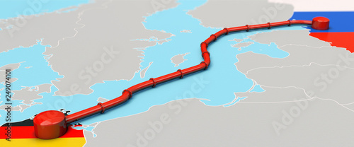 Nord Stream 2 Pipeline, Illustration Canvas Print