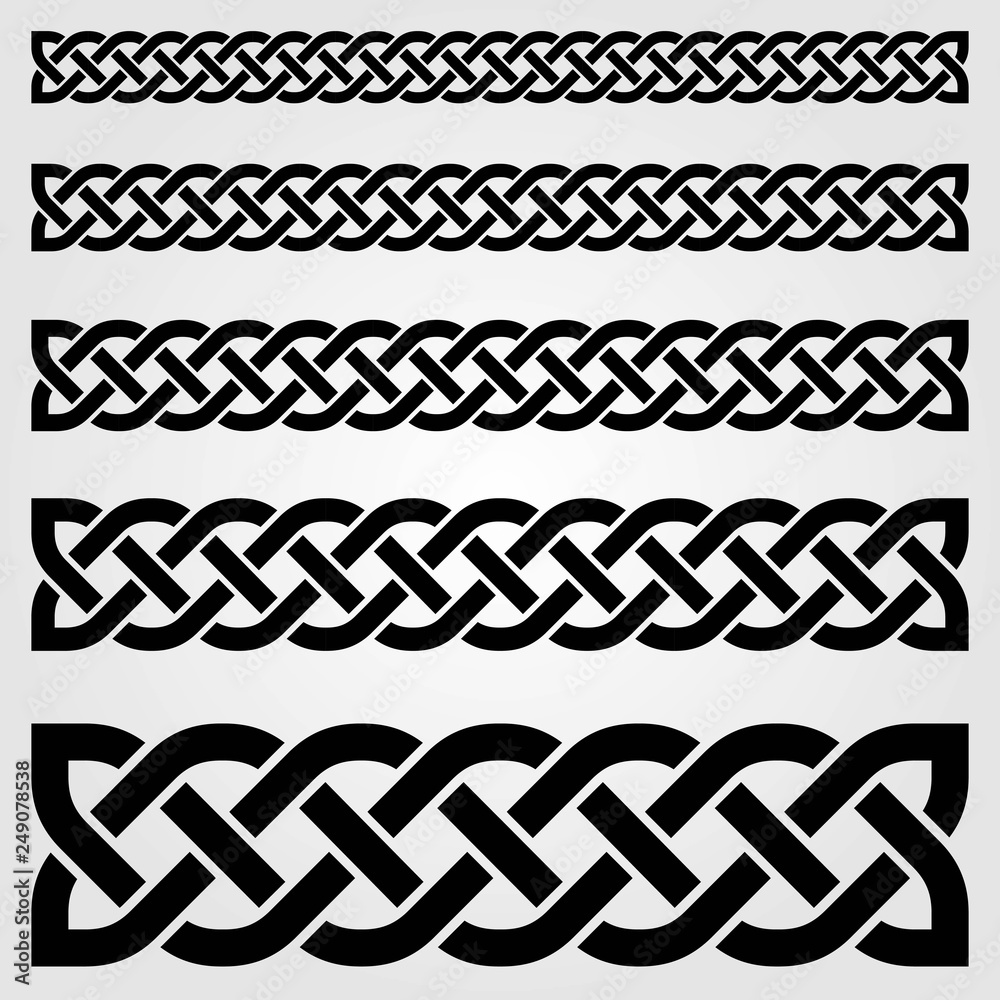 Fototapety, obrazy: Celtic style border isolated on white background. Vector illustration