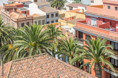 Poster de jardin Europe Méditérranéenne View of part of the city of La Laguna, on the island of Tenerife, Canary Islands, Spain