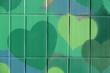 Leinwanddruck Bild - Grüne Herzen