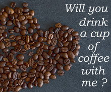 Background Coffee Beans And Message