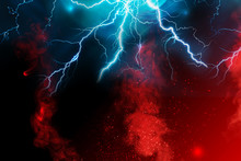 Fire And Abstract Fractal Lightning