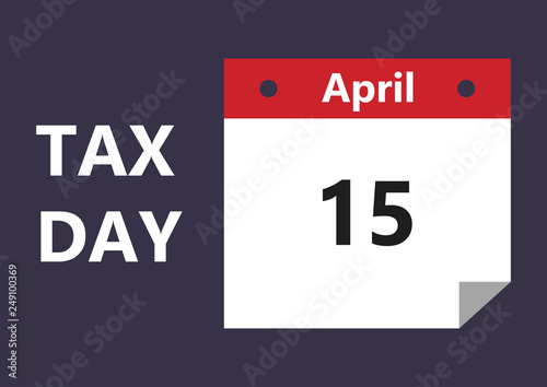 2020 Tax Return Calendar Vector illustration in flat style of deadline for Federal income