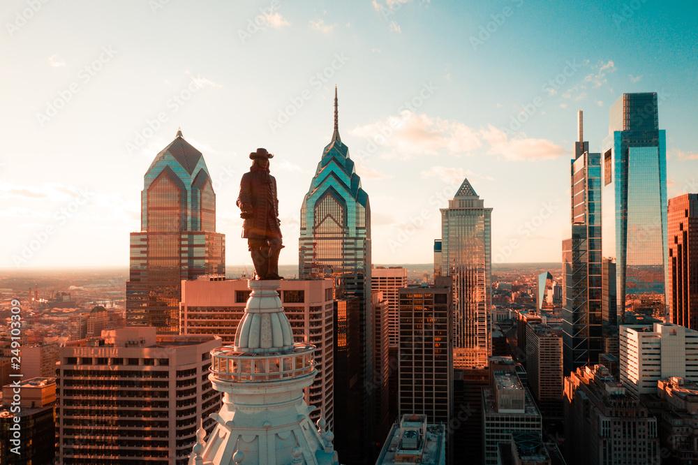 Fototapety, obrazy: Aerial of Philadelphia