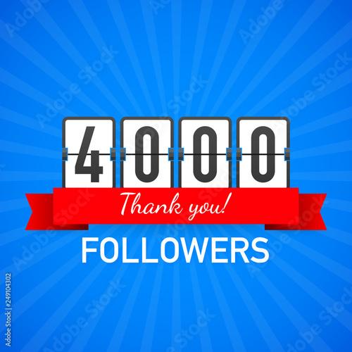 Valokuva  4k followers, Thank You,  social sites post
