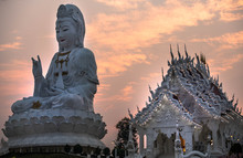 Huai Pla Kung Temple Chiang Rai Province Is A Temple That Is Distinguished By Having A Nine-story Pagoda That The Villagers Respect And Believe That If Anyone Has Visited It Will Be With Heaven