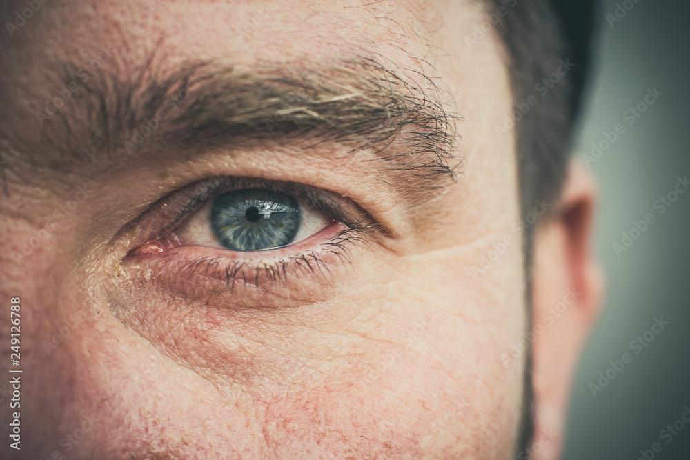 Fototapeta Man's eye is close