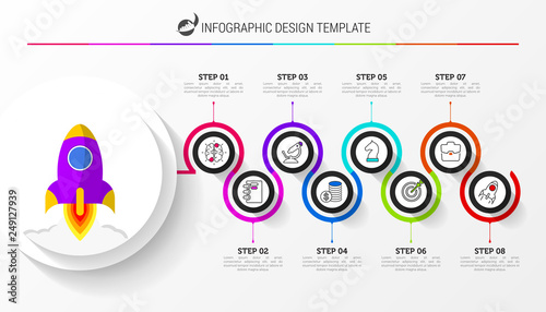 Foto  Infographic design template. Creative concept with 8 steps