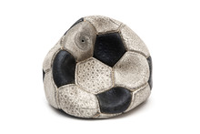 Old Football Ball Isolated On ...
