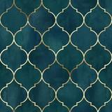 Vintage dekoracyjne nieczysty indyjski, marokański wzór - 249128990