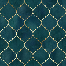 Vintage Decorative Grunge Indian, Moroccan Seamless Pattern