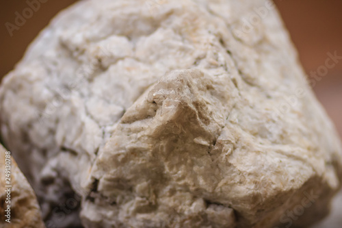 Raw specimen of Barite stone from mining and quarrying Wallpaper Mural