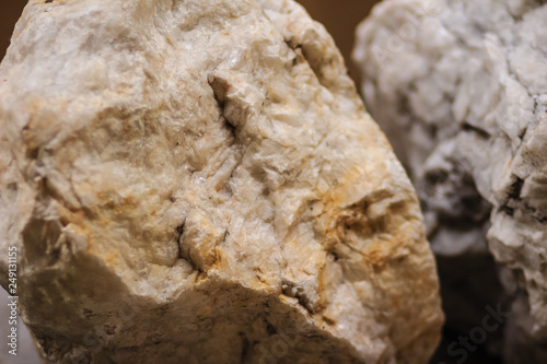 Raw specimen of Barite stone from mining and quarrying Canvas Print