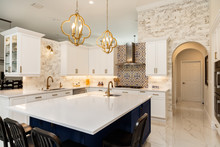 Modern White Kitchen In Estate...