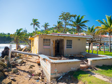 Destroyed House From Hurricane Maria In Puerto Rico