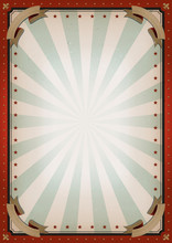 Vintage Blank Circus Poster Si...