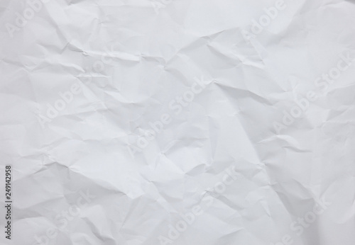 Fotografia, Obraz  White crinkle paper sheet background with textures