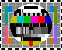 Test Card TV With Rainbow Colo...